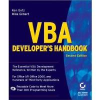Book VBA Developer's Handbook