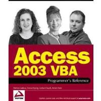 Book Access 2003 VBA